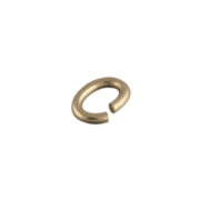 Oval jump ring double