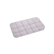 Plastic storage inserts with 15 compartments