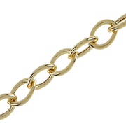 Bracelet trace pointed 750/- yellow gold