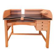 Guldsmedebord med grå antrasit bordplade