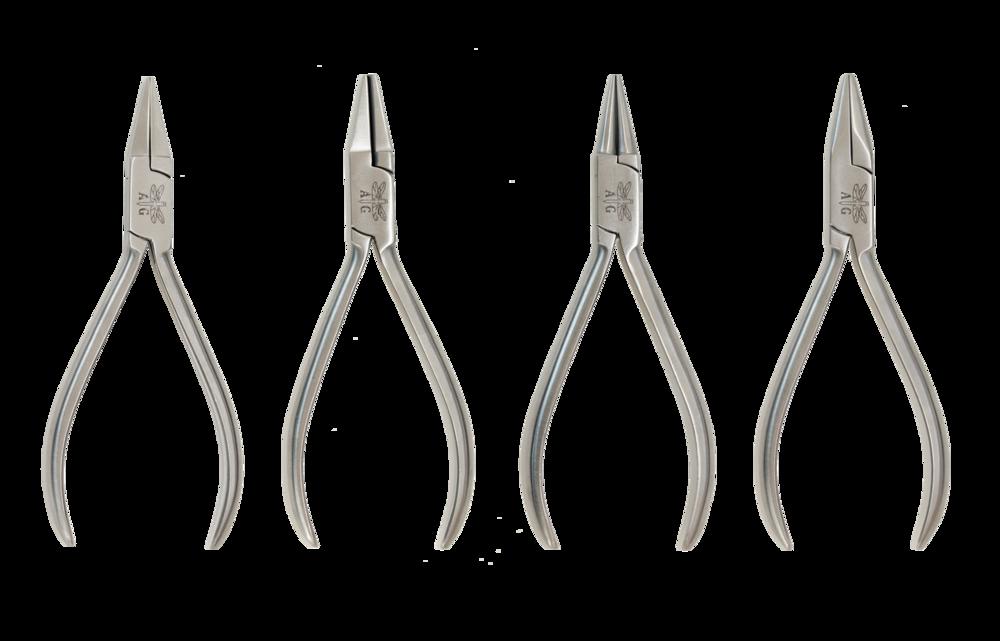 Rostfri tångset, 130 mm (4 styck)