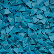 Blue plastic chips – pyramid-shaped