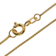 Ankle bracelet venetian box diamond cut 333/- yellow gold