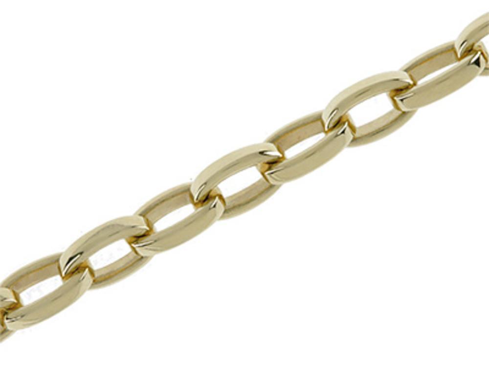 Bracelet belcher oval 750/- yellow gold