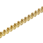 Tennis bracelet 750/- yellow gold