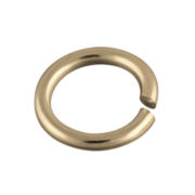 Round jump ring 925/- gold-plated