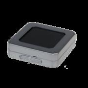 Sales box, grey plastic/black stuffing, medium