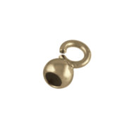 Capsule with a small open jump ring 925/- gold-plated