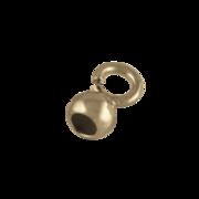 Dup med lille åbent øsken 925/- forgyldt