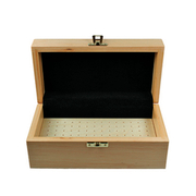 Storage box for cutters, solid wood